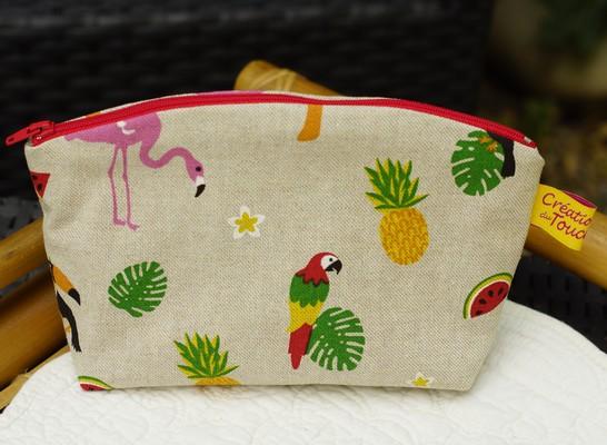 pochette de sac motif tropical