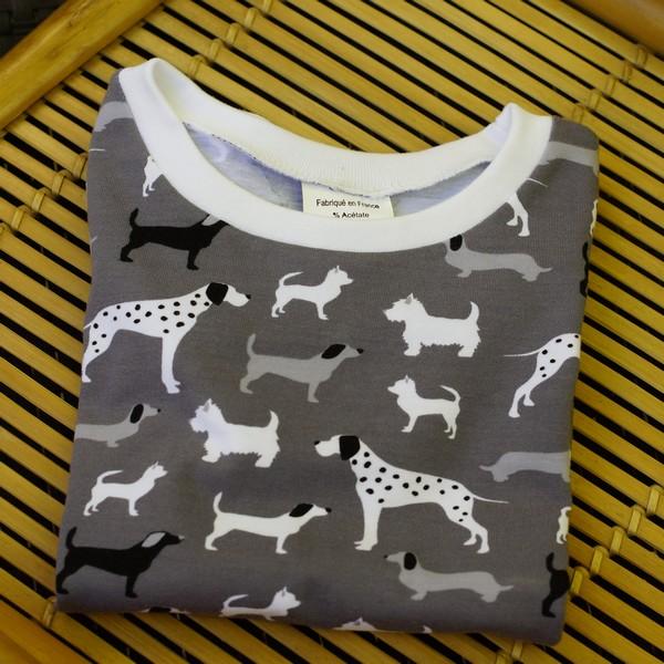 Tee-shirt enfant motif chiens