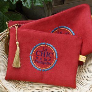 Grande pochette sac rouge