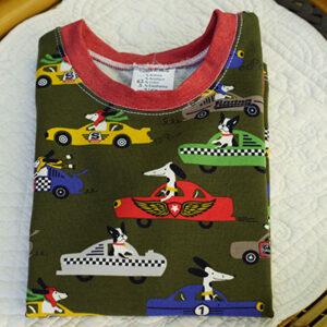 Tee-shirt course de voitures