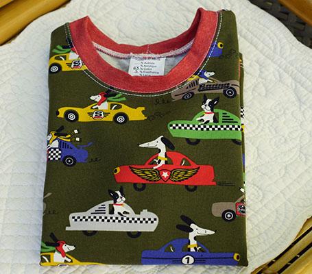 Tee-shirt enfant course de voitures