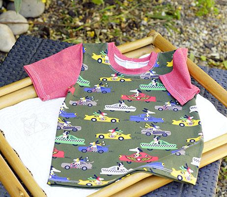 tee-shirt été enfant course de voitures